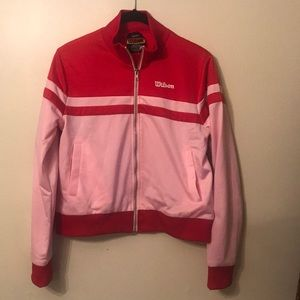 Forever 21 x Wilson pink track jacket